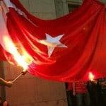 Flagge der Türkei im Süden von Zypern