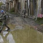 Spannungen zwischen griechischen Bauern und türkischen Soldaten